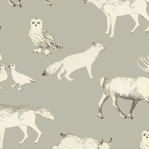 Winter animals (taupe)