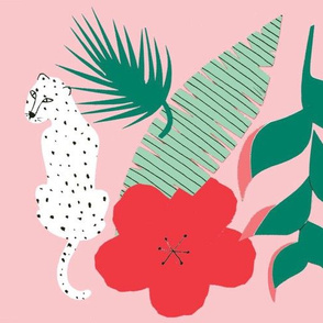 Pink tropical leopard