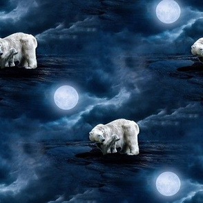 polarbear under the full moon