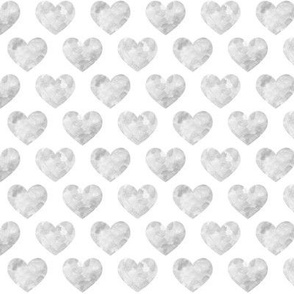 Grey Watercolor Hearts
