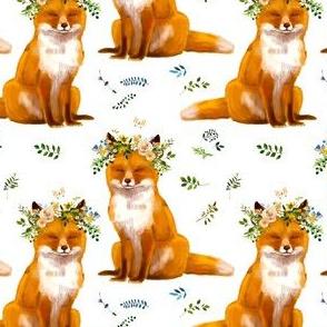 "4"" Bohemian Spring Fox - White"