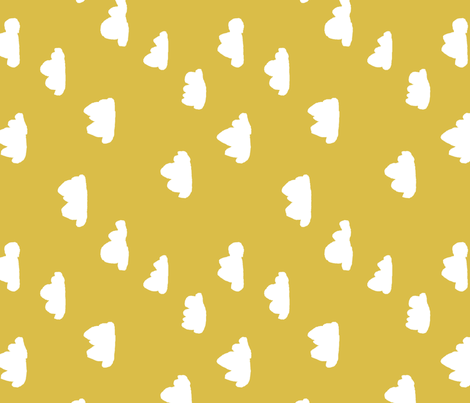 clouds // mustard cool gender neutral mustard yellow cloud design for baby (railroad) fabric by andrea_lauren on Spoonflower - custom fabric