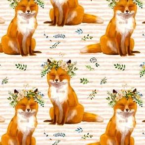"""4"""" Bohemian Spring Fox - Peach Stripes"""
