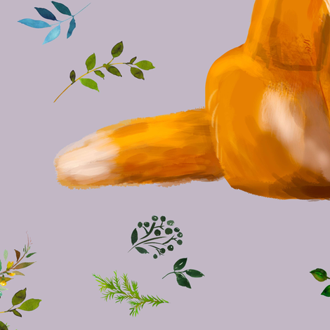 "18"" Bohemian Spring Fox - Lilac fabric by shopcabin on Spoonflower - custom fabric"
