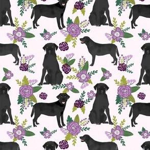 Black Lab labrador retriever dog pet quilt c floral dog breed quilt fabric