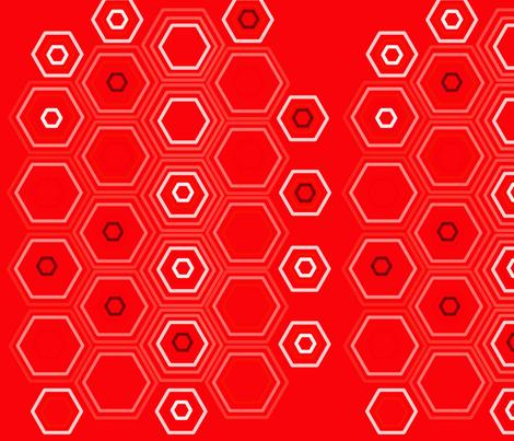 Red Honey fabric by lisabridenbaker on Spoonflower - custom fabric