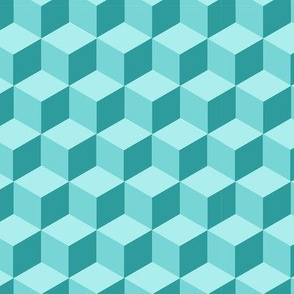 Teal Cube Repeat - Small