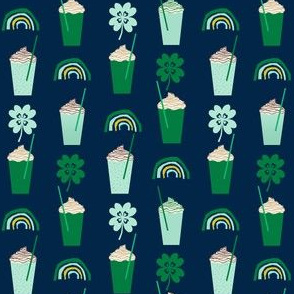 shamrock shake mint iced drink coffee milkshake st patricks day rainbows (smaller)