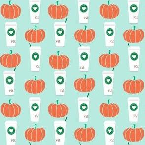 pumpkins autumn fall pumpkin spice latte fabric, autumn girls pumpkin spice, coffee, psl, pumpkin spice latte, latte, autumn, fall (smaller)