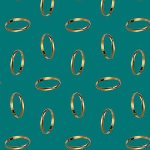 golden ring - green
