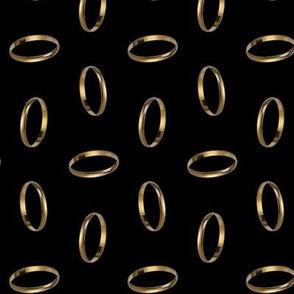 golden ring - black