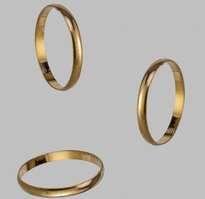 golden ring - silver