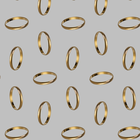 golden ring - silver fabric by stofftoy on Spoonflower - custom fabric