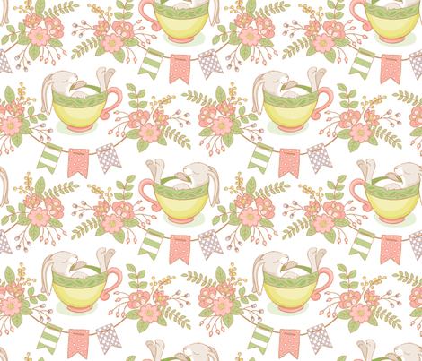 Little Hare fabric by mia_valdez on Spoonflower - custom fabric