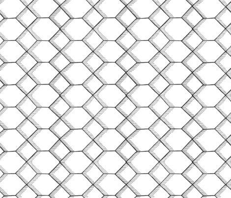 hexagon fabric by hatch_creative on Spoonflower - custom fabric