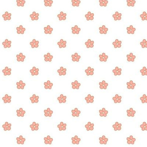 Polka flower spring dots