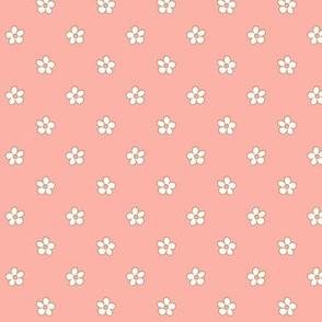 Polka flower dots_Peach Bud