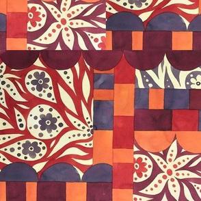 Retro 1970's abstract