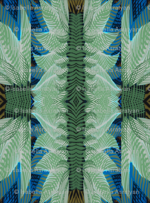 art deco inspired greens