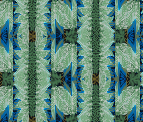 art deco inspired greens fabric by isabella_asratyan on Spoonflower - custom fabric