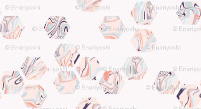 marbled hexies