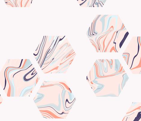 marbled hexies fabric by enariyoshi on Spoonflower - custom fabric