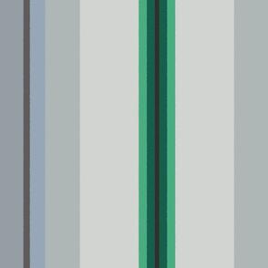 Reverie Stripe ~ Scheele's Green, Mystique, Gunmetal, Spyglass, Rupert,  Nightshade,  East Wind, Givre