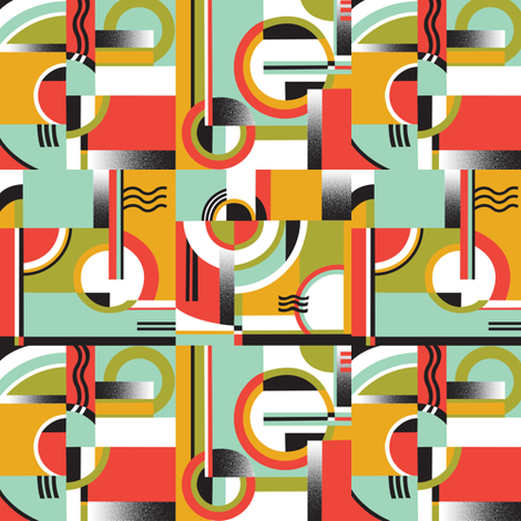 Bauhaus fabric by julistyle on Spoonflower - custom fabric