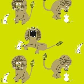 lion + mouse_neon bright