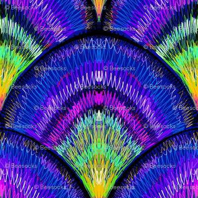peacock feather scales, large scale