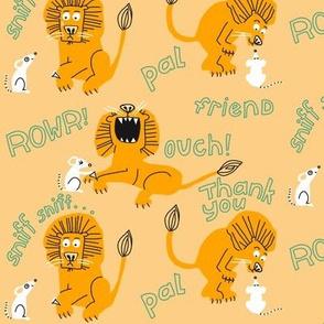 lion + mouse_wordy_peach 2