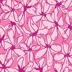 Abstract Floral - Pink