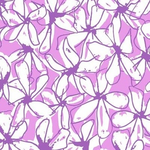 Abstract Floral - Purple