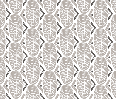 masks_neutral fabric by yetunderodriguezdesign on Spoonflower - custom fabric