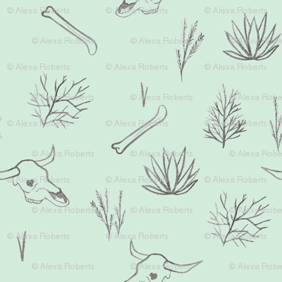Desert Plants and Bones Mint