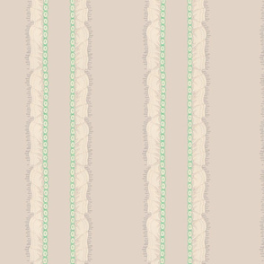 Consuelo Ruffle Stripe ~ Brouillard
