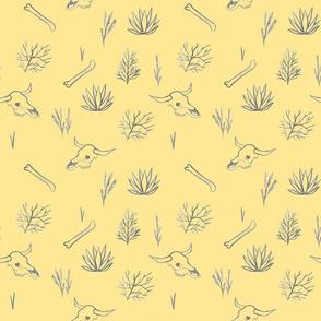 Desert Bones and Plants Yellow