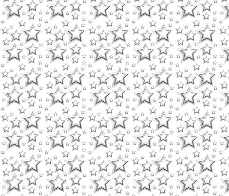 Stars Grey fabric by amethyst_designs on Spoonflower - custom fabric