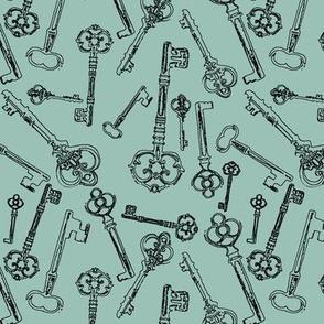 Stylized Antique Keys // Sky // Small