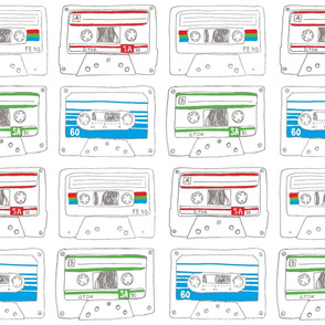 Cassette Tape Wrapping Paper - Customizable!