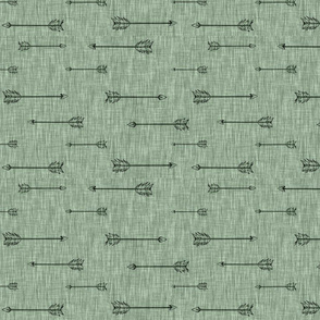 arrows on Linen - fern - ROTATED