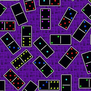 Black Dominoes Pattern - Purple