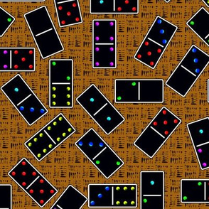 Black Dominoes Pattern - Tan