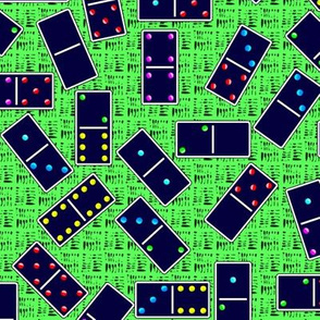 Blue Dominoes Pattern - Pastel Green