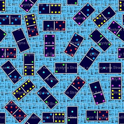 Blue Dominoes Pattern - Pastel Light Blue