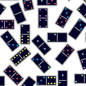 Blue Dominoes Pattern