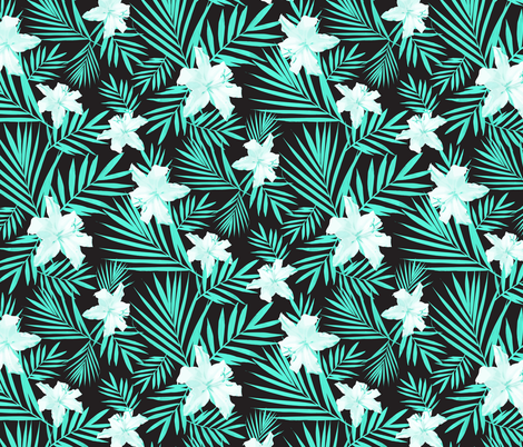 TROPICAL MINT TINTS fabric by lottalorier on Spoonflower - custom fabric