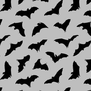 Bats in Flight // Light Grey // Small