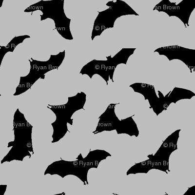 Bats in Flight // Light Grey // Large