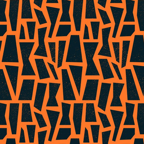 Orange and Black Mid Century